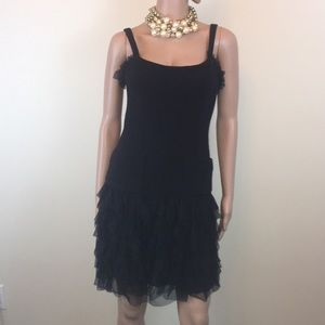 Gorgeous navy and black Chanel dress, Sz. 34/US2